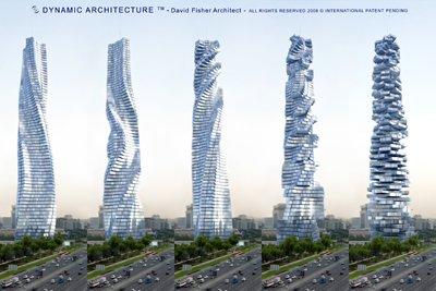 Building in motion - pilvenpiirtäjä, jonka jokainen kerros pyörii itsenäisesti